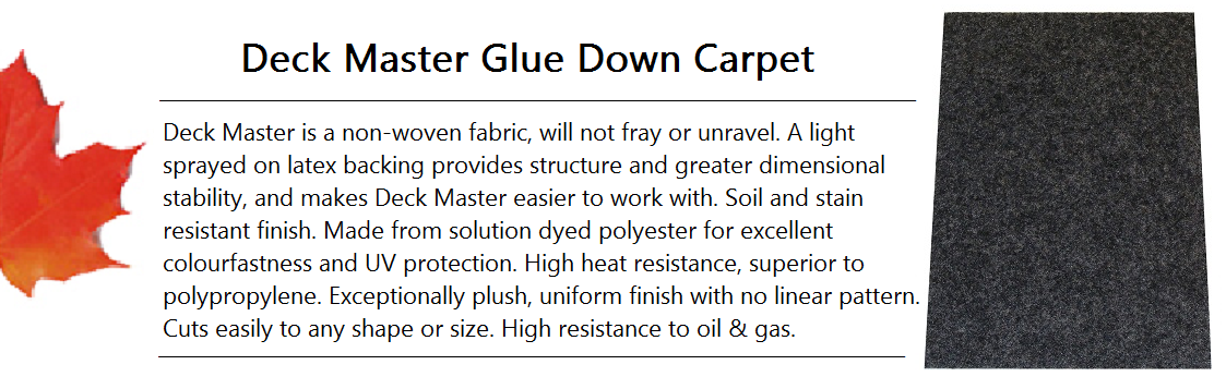 Deck Master Glue Down Carpet Banner